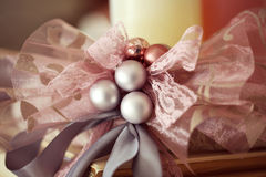 Beautiful color christmas decorations hanging on c Stock Image