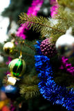 Beautiful color christmas decorations hanging on christmas tree Stock Photography