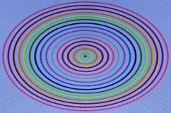 Beautiful color circles on blue background. Details of beautiful color circles on blue line background Stock Photo