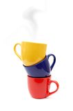 Beautiful color cups Royalty Free Stock Photography