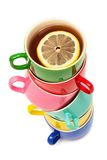 Beautiful color cups Royalty Free Stock Photo