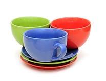Beautiful color cups Stock Photos