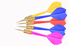 Beautiful color darts. On white background Stock Images