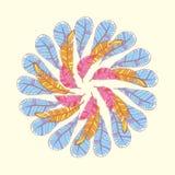 Feather circle infinite card Stock Photo