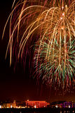 Beautiful color fireworks Royalty Free Stock Photos