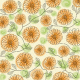Beautiful color floral background, vector Stock Image