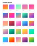Beautiful color gradient collection. Gradients template for your design. Trendy modern soft gradients. For mobile and web design royalty free illustration