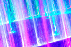 Beautiful color light fountain Stock Photography