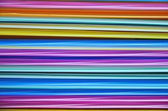Beautiful color lines of plastic straws Royalty Free Stock Images