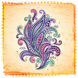 Beautiful color paisley ornament Royalty Free Stock Photography