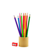 Beautiful color pencils Stock Images