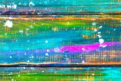 Beautiful color strokes painted on a wooden background Royalty Free Stock Image