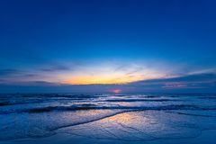 Beautiful color of the sunrise over sea background, ocean in sou. Thern Thailand Stock Images