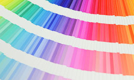 Beautiful color swatches book royalty free stock photography