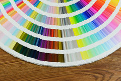 Beautiful color swatches book on table royalty free stock photos