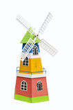 Beautiful color wind turbine modeling Stock Images