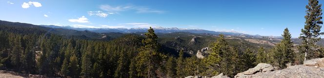 Beautiful Colorado Landscape. Amazing Panorama View Over Colorado Landscape Royalty Free Stock Image