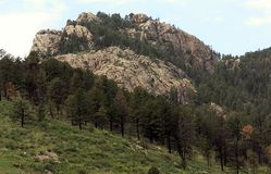 Beautiful Colorado landscape with forest, and rock formation stock photos