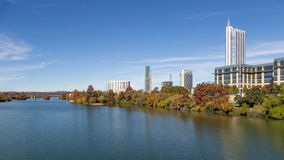 Beautiful Colorado River in Austin, Texas, USA Royalty Free Stock Images