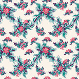 Beautiful colored abstract flowers on a light background tender seamless pattern Stock Images