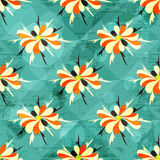 Beautiful colored abstract flowers seamless pattern Stock Image