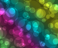 Beautiful colored background bokeh. Blue, yellol, green, pink colors Stock Image