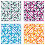 Beautiful colored background collection of vector illustration Stock Photo