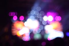 Beautiful Colored Bokeh on black background. Bokeh background from city at rushhour Stock Photos