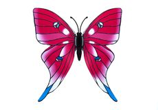 Beautiful pink butterfly Royalty Free Stock Photography