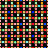 Beautiful colored circles on dark background vector illustration Royalty Free Stock Photo