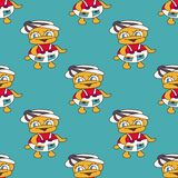 Beautiful colored ducks baby seamless pattern Stock Photos
