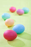 Beautiful colored Easter eggs on the background Royalty Free Stock Photography