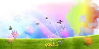 Beautiful colored floral background Stock Photo