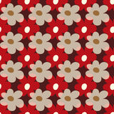 Beautiful colored flowers seamless pattern vector illustration Royalty Free Stock Photo