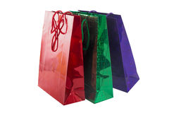 Beautiful colored gift bags Royalty Free Stock Photos