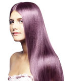 Beautiful colored hair Royalty Free Stock Image