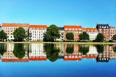 Colored houses in Copenhagen Stock Images