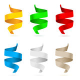 Beautiful colored ribbons Stock Images