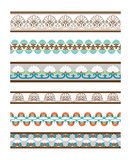 Beautiful Colored Seamless Vector Borders Royalty Free Stock Photos