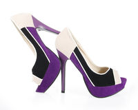 Beautiful colored shoes stock photography