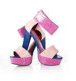 Beautiful colored shoes Royalty Free Stock Photos