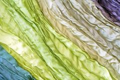 Beautiful colored silk Royalty Free Stock Image