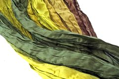Beautiful colored silk, can be used as background Stock Photography