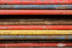 Steel pipe for reinforced concrete stock photos