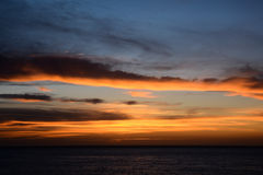 Beautiful Colored Sunset Royalty Free Stock Photos
