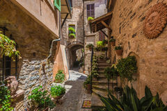 Beautiful colored town in central Italy,Spello Stock Photo