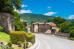 Beautiful colored town in central Italy Royalty Free Stock Photo