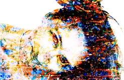 Beautiful colored woman. Beautiful image of colored woman Stock Image