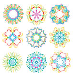 Beautiful colorful abstract flower elements Royalty Free Stock Images