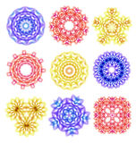 Beautiful colorful abstract flower elements Stock Photography